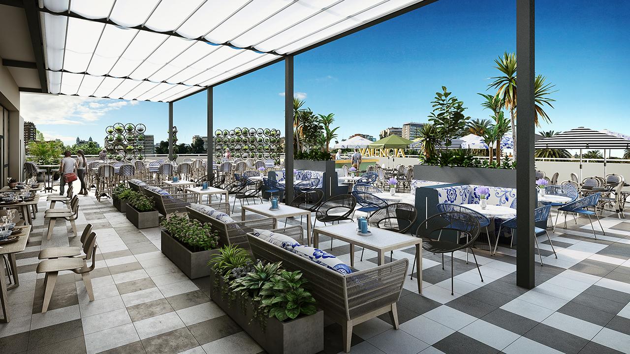 Palau alameda un nuevo lugar de encuentro valencia city - Muebles terraza valencia ...